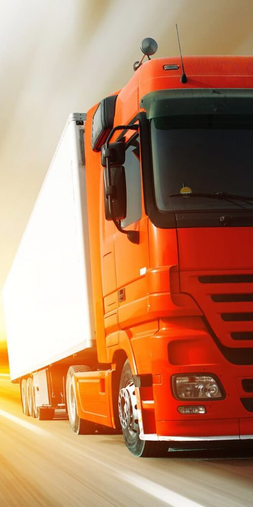 Link Between Supply Visibility and Last Mile fulfilment, red truck